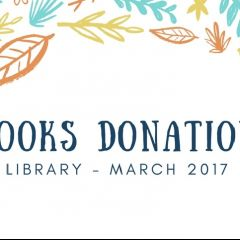 Books donation at the library from now on
