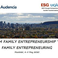CALL: FROM FAMILY ENTREPRENEURSHIP TO FAMILY ENTREPRENEURING