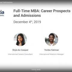 Full-Time MBA: Career Prospects and Admissions