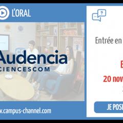 Audencia SciencesCom en live le 20 novembre !