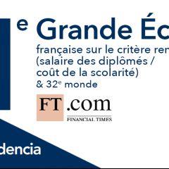 Audencia en 1ère position des grandes écoles françaises du classement Masters in Management du FT