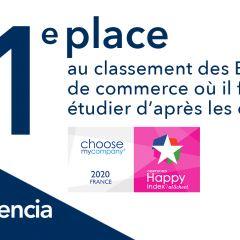 AUDENCIA N°1 AU CLASSEMENT HAPPYATSCHOOL® 2020