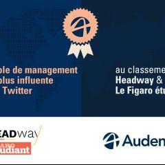 Audencia est championne de l'influence Twitter 2021