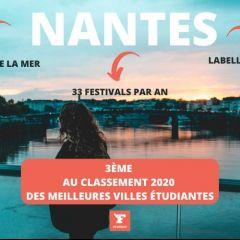 Nantes 3ème au classement 2020 des meilleures villes étudiantes par le Figaro Étudiant