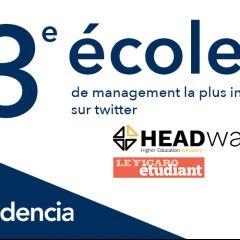Audencia lauréate du Classement HEADway Advisory «Twitter Influence»