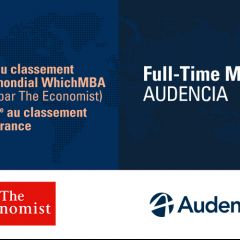 Economist WhichMBA Rankings -Audencia Full-Time MBA is the 80th best MBA in the world