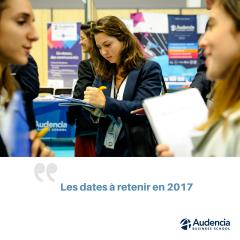Les dates à retenir pour 2017 !