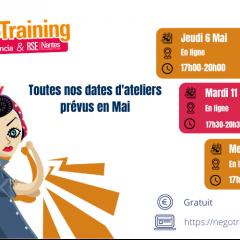 #NégoTraining : 3 ateliers programmés pour le mois de Mai