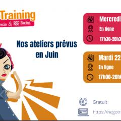 #NégoTraining : les ateliers du mois de Juin