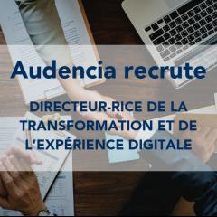 Audencia recrute un-e Directeur-rice de la Transformation et de l'Expérience Digitale