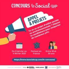 Ouverture des inscriptions à l'appel à projets Social Cup !