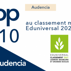 AUDENCIA 7TH IN THE EDUNIVERSAL 2021 RANKING