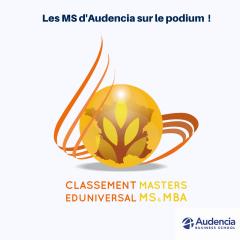 Classement 2017 des meilleurs MS : Audencia au top !