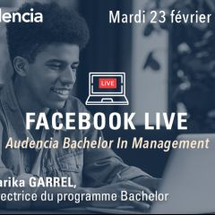 Facebook Live Audencia Bachelor In Management