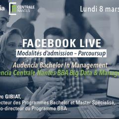 Facebook Live Modalités d'admission - Parcoursup