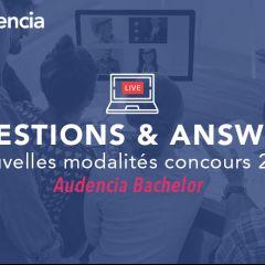 Q&A - Nouvelles modalités du concours 2020