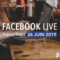 Facebook Live Espace Prépa