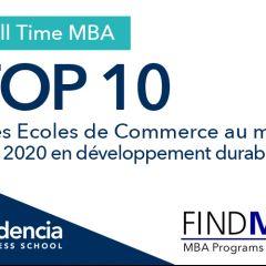 Audencia dans le Top 10 mondial de FIND MBA 2020 dédié à la RSE