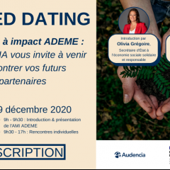 Save the date : Speed-dating