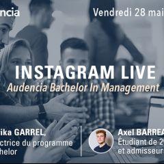 INSTA LIVE QUESTIONS/RÉPONSES ADMISSION AUDENCIA BACHELOR
