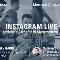 INSTA LIVE Questions/Réponses sur le Bachelor in Management