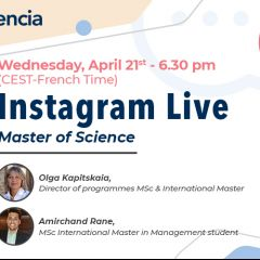 Instagram Live : Master of Science & International Master