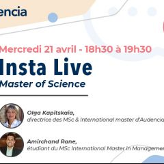 INSTAGRAM LIVE / PROGRAMMES MSC & INTERNATIONAL MASTER