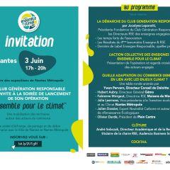Soirée de lancement de l'opération Ensemble pour le Climat