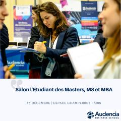 Salon l'Etudiant des Masters, Mastères et MBA