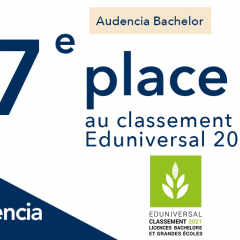 Audencia Bachelor 7ème du classement Eduniversal 2021 !