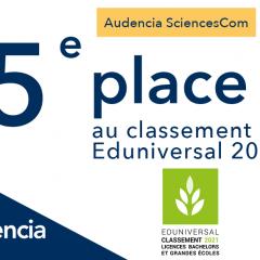 SCIENCESCOM 5ème DU CLASSEMENT EDUNIVERSAL 2021 !