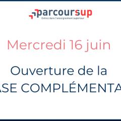 OUVERTURE DE LA PHASE COMPLEMENTAIRE