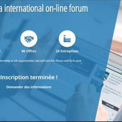 1er Forum virtuel stages à l'international