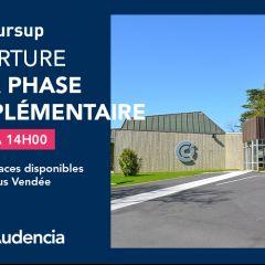 OUVERTURE DE LA PHASE COMPLÉMENTAIRE > CAMPUS VENDEE