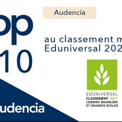 Audencia 7e du classement Eduniversal 2021 !