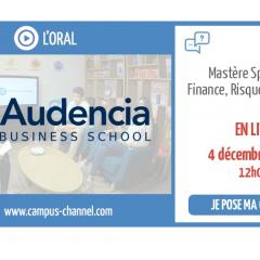 Live Campus Channel du MS® Finance Risque et Contrôle