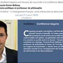 Conférence Isegoria François-Xavier Bellamy