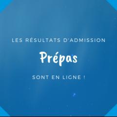 Les résultats d'admissions programme Grande Ecole sont en ligne !