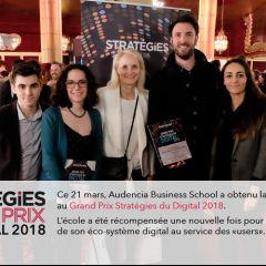 Grand Prix Stratégies du Digital : Audencia récompensée !