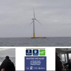 Les étudiants du MS® APTE découvrent l'éolienne Floatgen