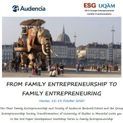 3rd Paper Development Workshop in Family Entrepreneurship