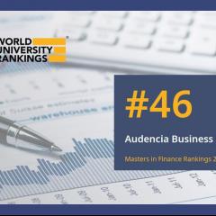 Classement QS des Masters en finance dans le monde: le Mastère Spécialisé® d'Audencia est le 7e programme français classé