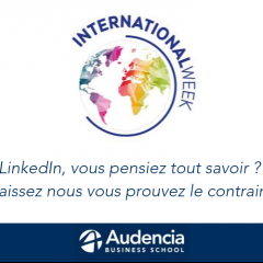 Audencia à l'International Week de la CCI Nantes St-Nazaire