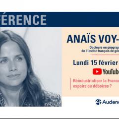 Conférence Isegoria Anaïs Voy-Gillis