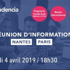 Audencia vous ouvre ses portes ! Rendez-vous à Nantes ou à Paris !