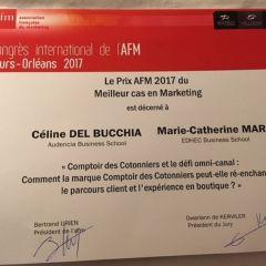 Prix du meilleur cas pédagogique AFM pour Céline Del Bucchia