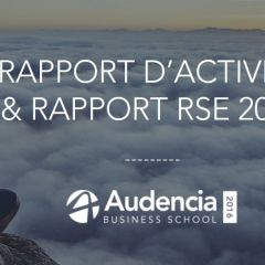 Read Audencia 's first annual and CSR report on screen