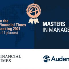 Audencia dans le top 50 mondial du classement Masters in Management 2021 du Financial Times