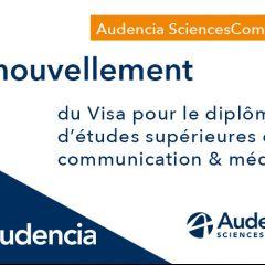 Audencia SciencesCom renouvelle son visa pour 5 ans !