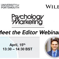 Meet the Editor webinar - Psychology & Marketing, 15 April